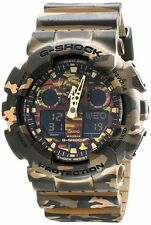 *NEW* CASIO MENS G SHOCK GREEN CAMOUFLAGE COMBI WATCH XL GA-100CM-5A   RRP£199