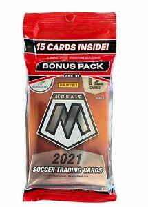 Euro2020 Panini Mosaic Soccer Trading Cards Cello Bonus Pack 15 Cards Sealed