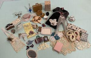 Large Lot of Ladies' Décor Clothing Vanity Items Etc Dollhouse Miniature 1:12