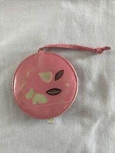 radley handbag mirror pink leather pull out mirror