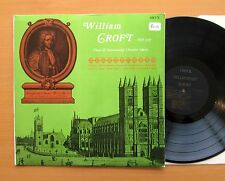 ORYX 1730 William Croft Vocal & Instrumentl Chamber Music NM/EX Stereo