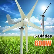 Max Power 600W AC 24V Wind Turbine Generator 5 Blades Kit Option