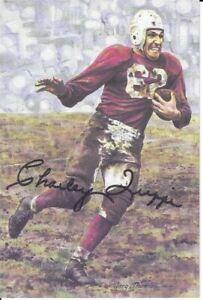 Charley Trippi Chicago Cardinals Autographed Goal Line Art Card
