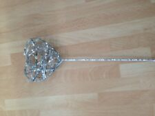 SILVER HEART WAND MEASURING 30cm GREAT WEDDING/PROM ACCESSORY buy 1 wand