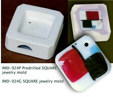 IMD-924P PREDRILLED JEWELRY BLANK SGUARE GLASS FUSING pod mold