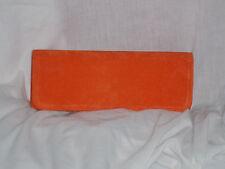 Naranja De Gamuza (suedette) Bolsa De Embrague / Naranja hombro bolsa / bolso De Noche