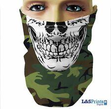 Vert Camouflage Crâne cache-cou cache-col écharpe-tube Masque visage