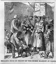 PARIS, SELLING DOGS IN FRONT OF HORSE MARKET, HISTORY