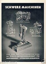 Maschinenfabrik Eumuco Schlebusch XL Reklame 1941 !! Schlaghammer Werbung WK 2