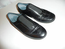 Rockport Casual Black Leather Slip Ons 8.5M Women's cushioned sneaker look/fit