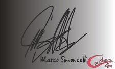PEGATINA STICKER  firma MARCO SIMONCELLI moto gp racing tuning AUFKLEBER VINYL