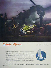 WWII Vintage 1941 Advertising Grocery Sign VULTEE VENGEANCE DIVE BOMBER FIGHTER