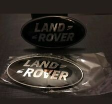 2 X LAND ROVER BLACK SILVER FRONT GRILLE BADGE EMBLEM DISCOVERY RANGE UK SELLER