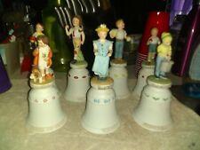 Lot Of 7 Norman Rockwell Children's Series Ii 1977/78 Bells
