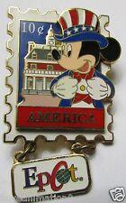 Disney EPCOT Stamp Pin Series #6 America Mickey Pin **