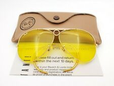 Vintage B&L Ray Ban Bausch & Lomb Kalichrome Gold Plated Shooter 62mm w/Case