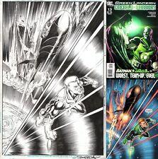 Ron Frenz Original Art Splash Pg Green Lantern Emerald Warriors #13 Batman & Guy