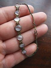 Antique Deco Natural Moonstone Bracelet
