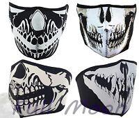 New Skull Black Reversible Neoprene Snow Ski Motorcycle Half Face Mask