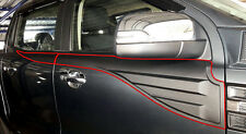 GREY WILDTRAK SIDE DOOR WINDOW CLADDING FORD RANGER T6 PX XL 4DR UTE 2012-2017
