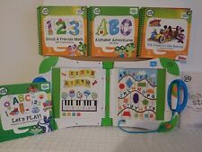 LeapFrog LeapStart Learning System with 4 Books! Used level 1 preschool MICKEY