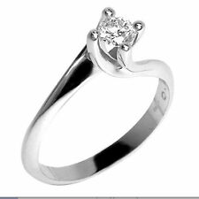 Anello Solitario  Valentino Diamante Naturale  0,11 ct Oro 18 kt  Free Diamonds