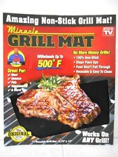 """MIRACLE GRILL MAT  AS SEEN ON TV (1) REUSABLE  GRILL MAT 15.75"""" X 13"""""""