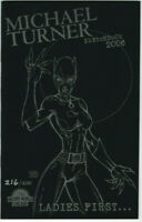 Michael Turner Sketchbook Ashcan 2006 Catwoman Ladies First Wizard World NM