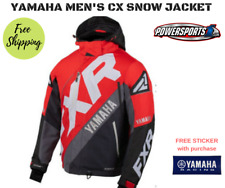 YAMAHA MEN'S MEDIUM CX SNOWMOBILE JACKET RED BLACK GRAY BY FXR 200-02129-14-10
