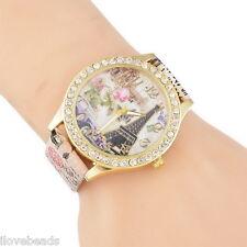 Women New Fashion Flower Butterfly Rhinestone Watch Quartz Charm Dress Watch