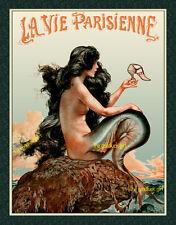 1925 MERMAID WITH SHOE risqué siren La Vie Parisienne 8x10 Herouard Art print