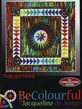 Happiness Pieced Quilt Pattern Be Colourful Jacqueline de Jonge DIY