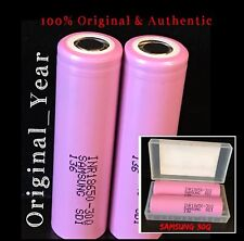 2 SAMSUNG 30Q 18650 3000mah 15A HIGH DRAIN RECHARGEABLE BATTERY  3.7V DISCHARGE