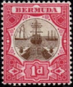 Bermuda 1906 1d Brown & Carmine SG.37 Mint (Hinged)  Wmk Multi Crown CA  Cat:£45
