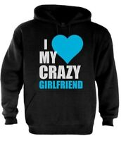 I Love My Crazy Girlfriend Couple Matching Hoodie Valentine's Day Gift S - 2XL
