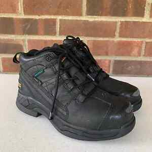 Ariat Black leather Steel Toe Lace Up work shoes boots Women's Size US 6.5