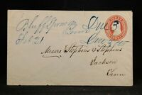 Tennessee: Bluff Springs 1859 (circa) 3c Entire Cover, Due 3, DPO Gibson Co