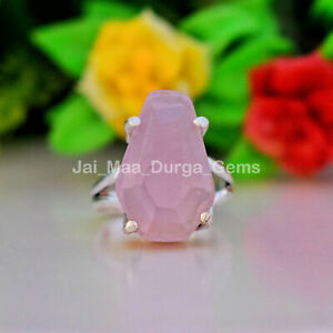 Lot 5 Pcs Quartz Crystal Coffin Gemstone 925 Sterling silver plated ring CR-16