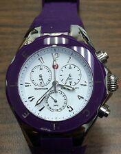 MICHELE WATCH TAHITIAN PURPLE Chronograph WRIST WATCH Nice Watch !!! C-13