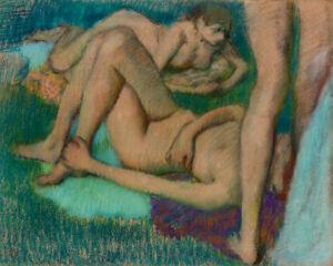 Bathers by Edgar Degas 60cm x 48cm Art Paper Print