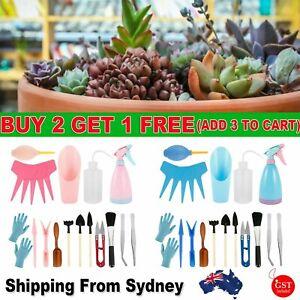 21pcs Kit Potted Fleshy Garden Bonsai Tools Set Mini Garden Succulent Trimming