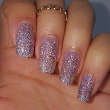 PINK AND SILVER HOLOGRAPHIC GLITTER Shiny Nail Polish 5 free Cruelty Free Vegan