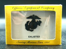 New Officers Equipment Company USMC Enlisted, Service, Garrison Cap, Black EGA