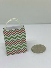 Handmade 12th Scale Dolls House Miniature Accessory Zig Zag Pattern Gift Bag 2