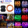 20M 200LED Timer Function Battery Powered Copper Wire LED String Fairy Light US