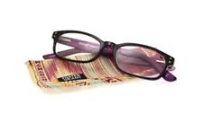 Foster Grant Bernadette Rectangular Purple Women's Reading Glasses