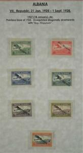 ALBANIA STAMPS 1927 SET OF 7 SG 204 - SG 210 H/M   (Z182)