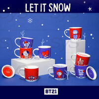 BTS BT21 Official Authentic Goods Winter Lid Mug 12fl.oz 370ml + Tracking Number