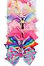 JOJO SIWA 6 Pcs/Set Rainbow Printed Knot Ribbon Bow Hair Chip For Kids Girls