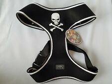 Hip Doggie Dog Harness Vest Black Skull Breathable High Quality Mesh Pet Size XL